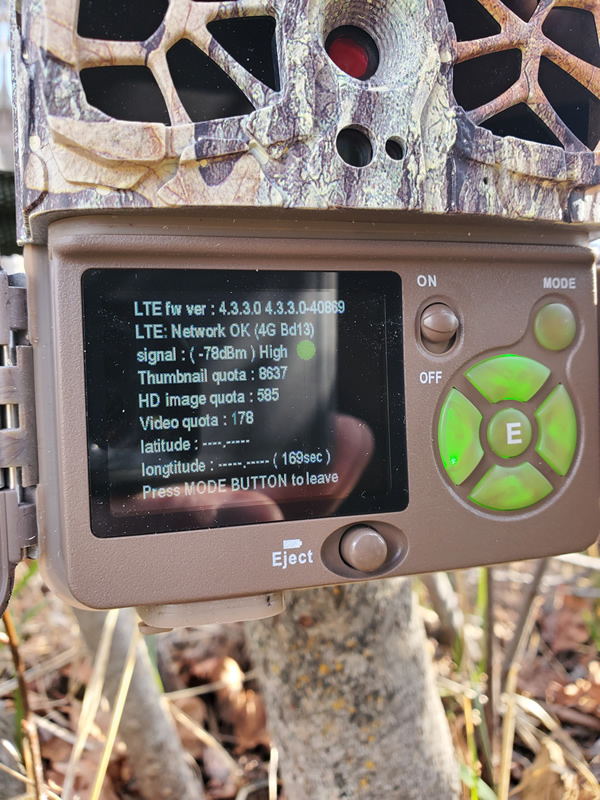 Browning Defender Wireless Cellular Trail Camera Verizon Signal Strength