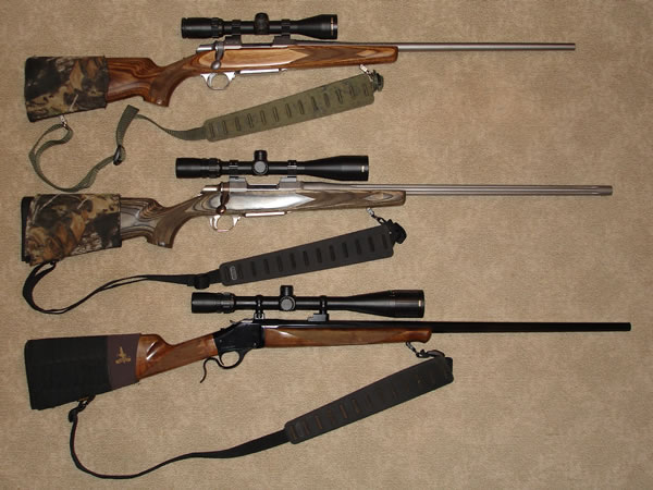 243 WSSM Rifles, Two Browning A-Bolts and a Winchester Model 1885